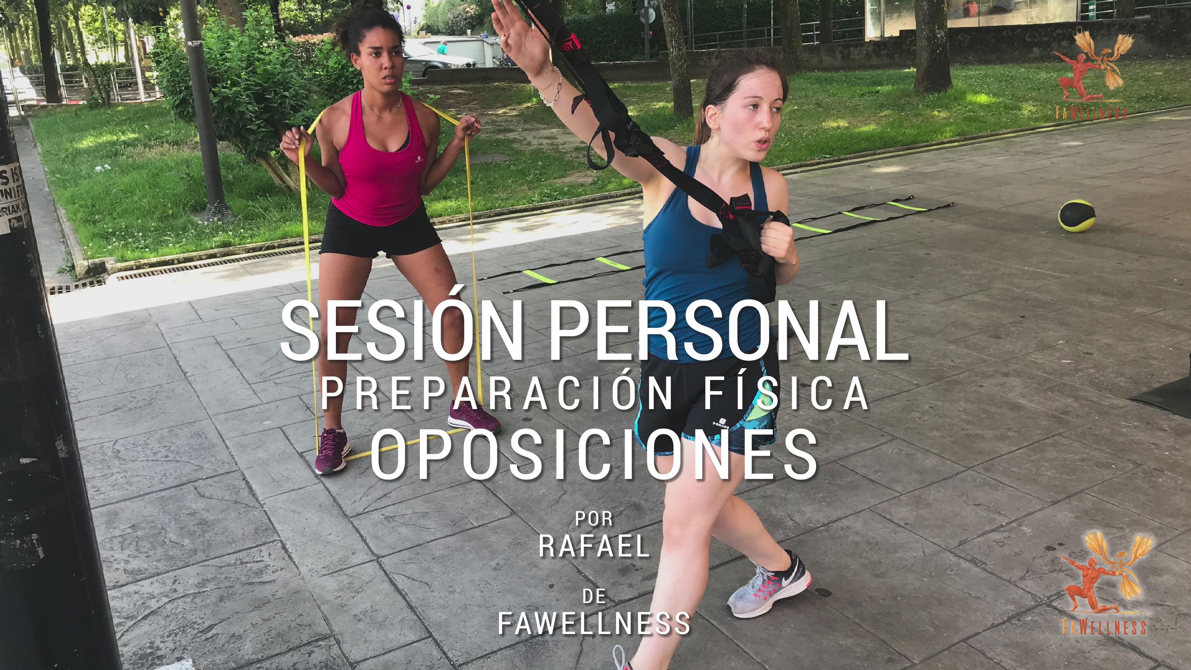 imagen blog FaWellness | Preparación física para oposiciones, sesión privada con Rafaela y Silvia