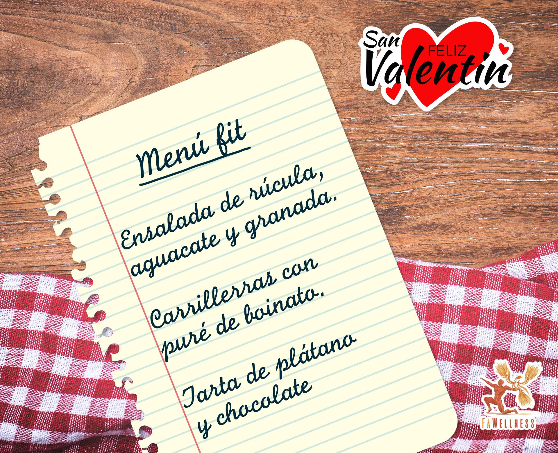 imagen blog FaWellness | Hemos preparado un delicioso menú para celebrar SAN VALENFIT