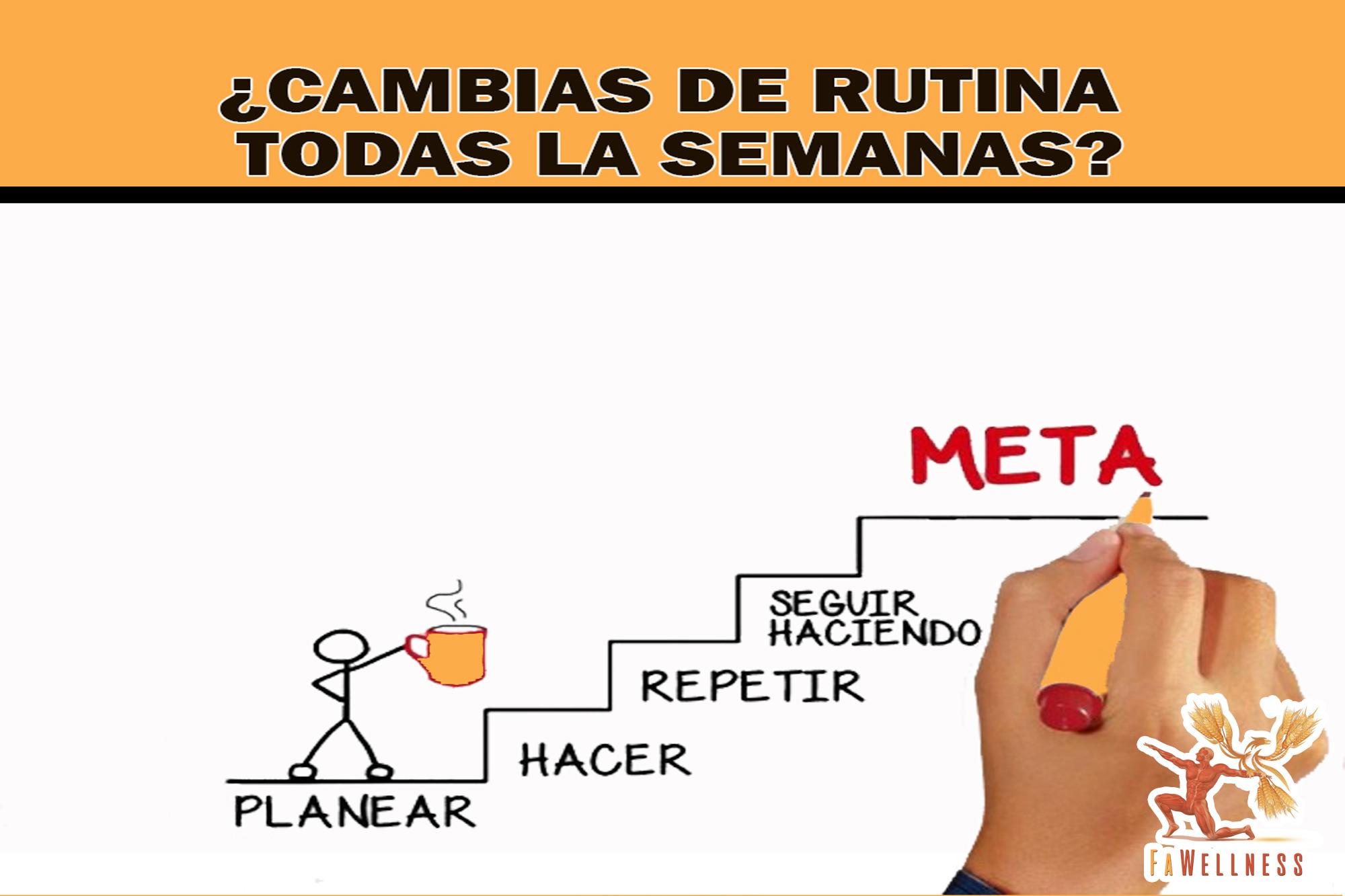 imagen blog FaWellness | ¿CAMBIAS DE RUTINA TODAS LAS SEMANAS?
