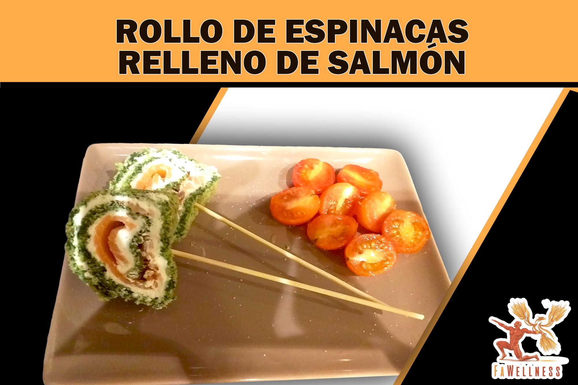 imagen blog FaWellness | ROLLO DE ESPINACAS RELLENO DE SALMÓN Y QUESO CREMA