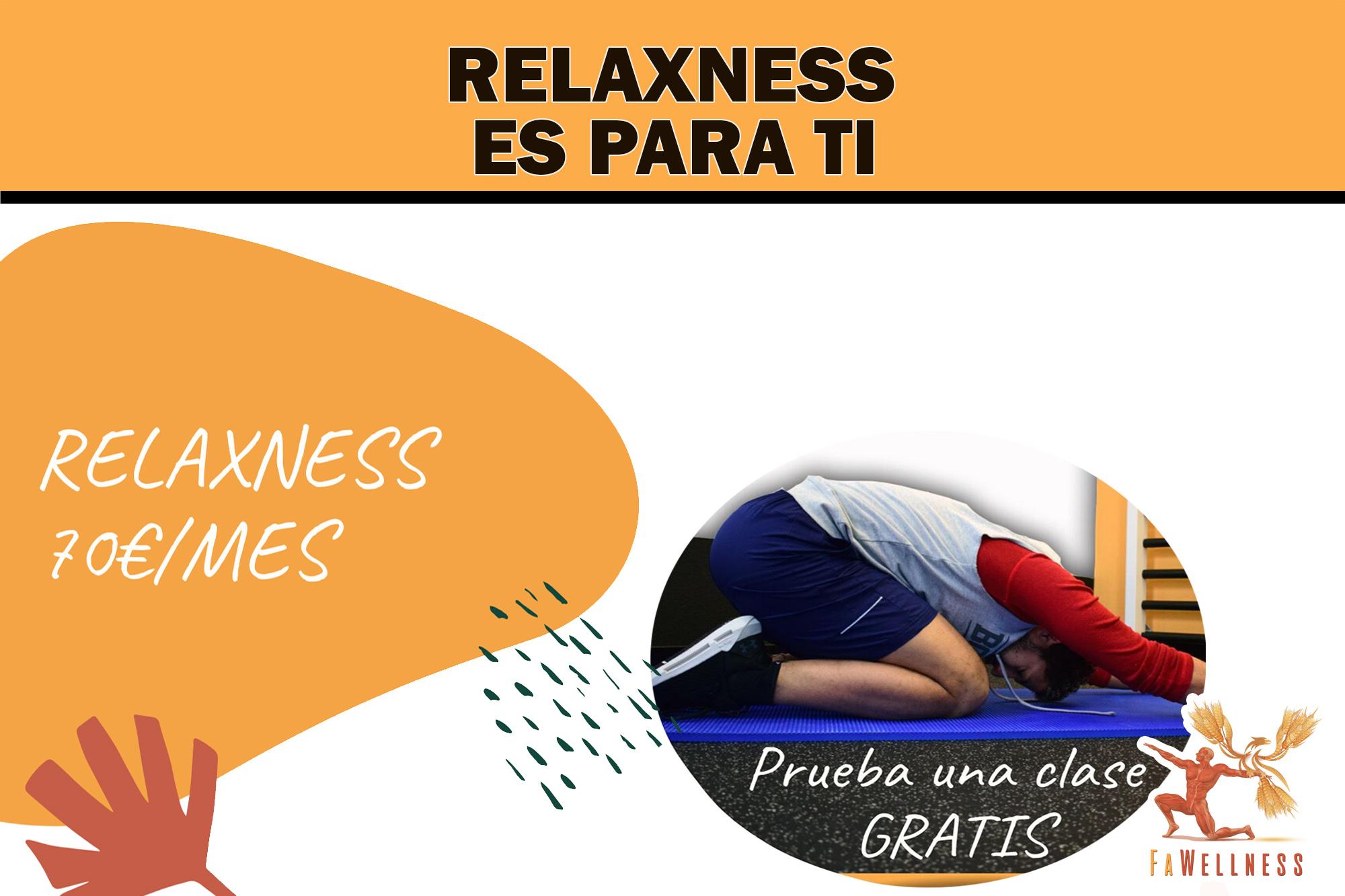 imagen blog FaWellness | NUEVO SERVICIO. RELAXNESS,  ES PARA TI